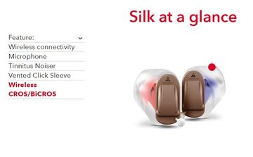Silk: One of the world's smallest hearing aids.